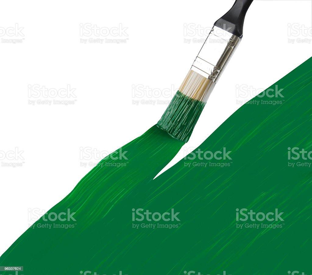 Green Brush royalty-free stock photo