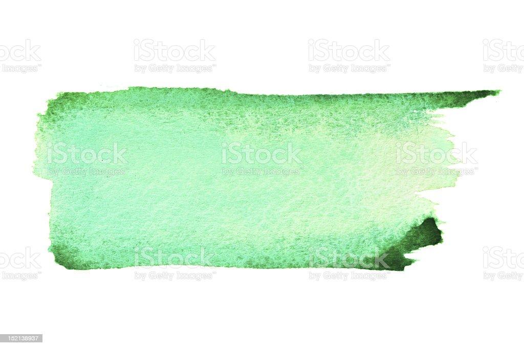 Green brush strokes royalty-free stock photo