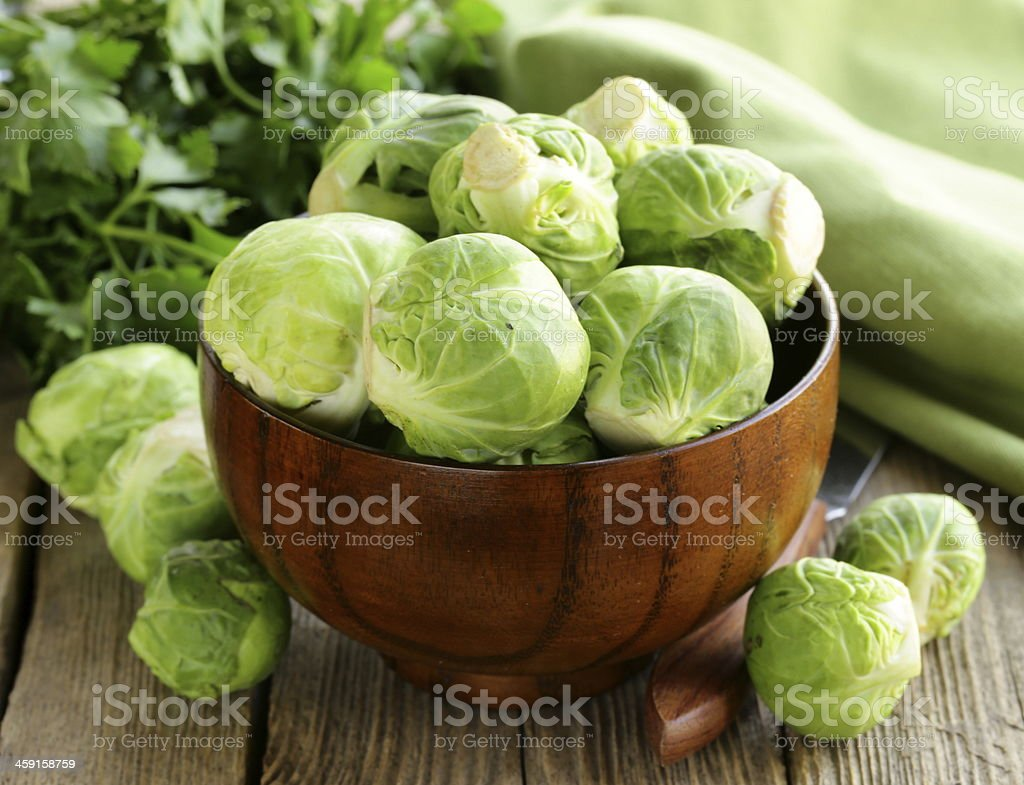 green brussel sprouts stock photo
