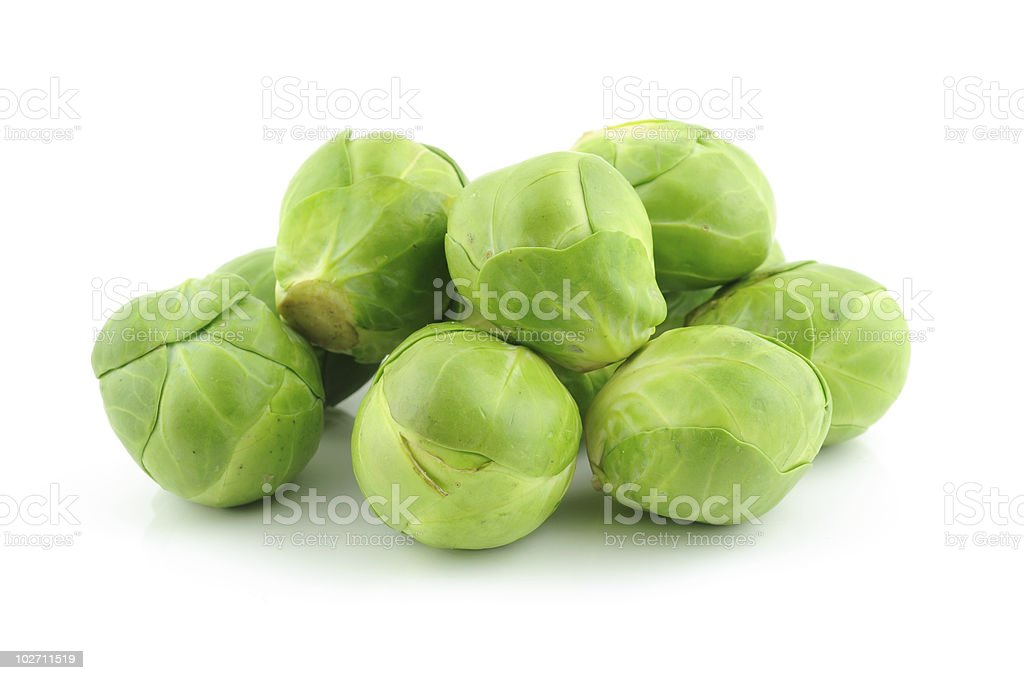 Green brussels sprouts royalty-free stock photo