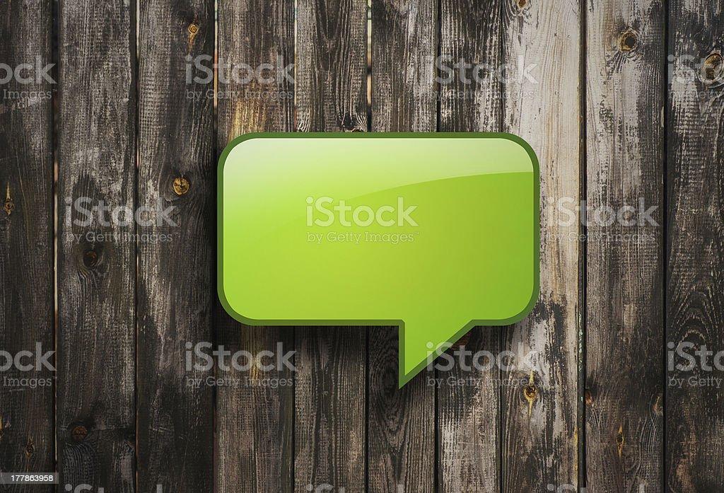 green bubble speech stock photo