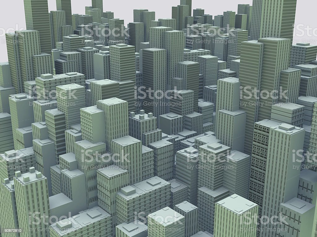 green buildings royalty-free stock photo