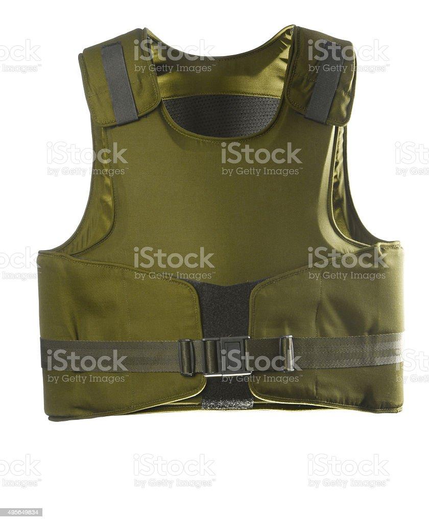 Green Bulletproof vest stock photo