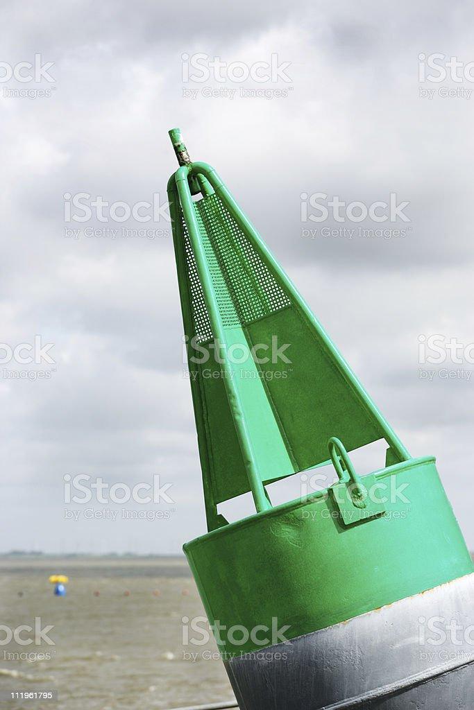 Green Buoy royalty-free stock photo