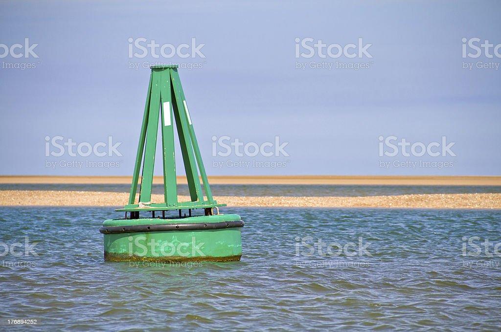 Green Buoy stock photo