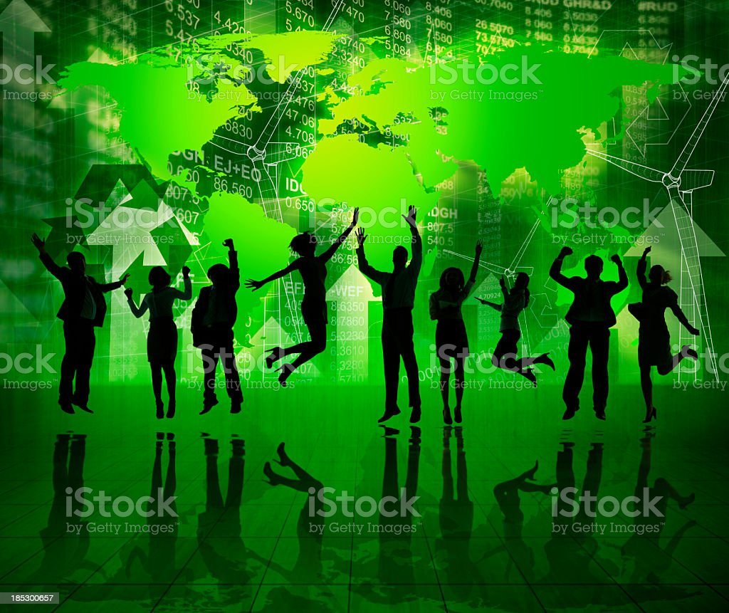 Green Business Celebration. royalty-free stock photo