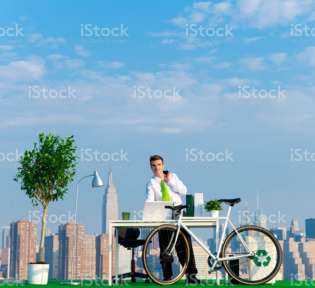 Green Business in the City royalty-free stock photo