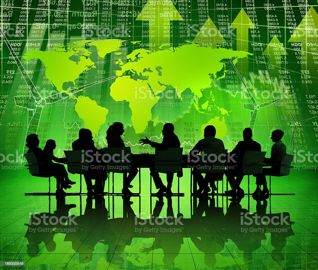 Green Business Meeting. stock photo