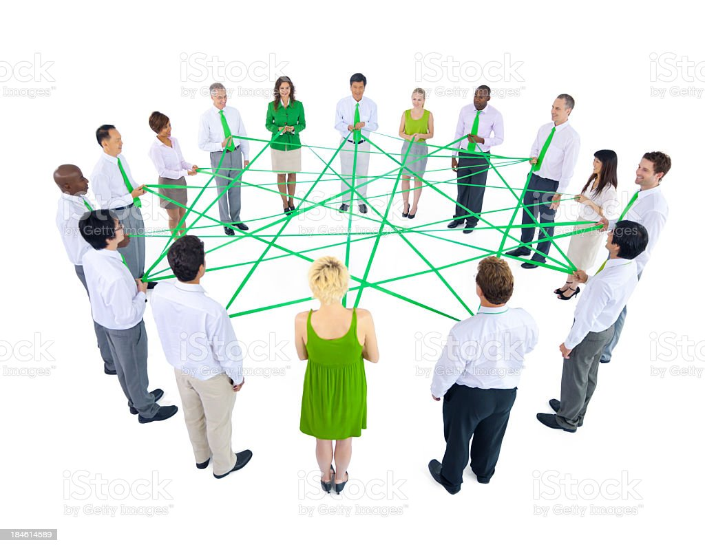 Green business network royalty-free stock photo