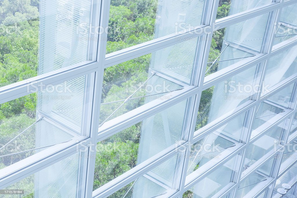 Green business office stock photo