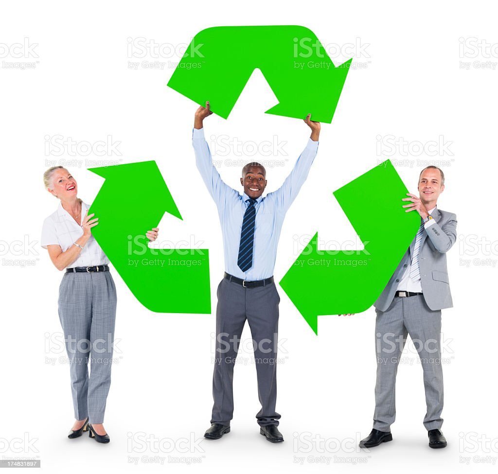 Green Business royalty-free stock photo