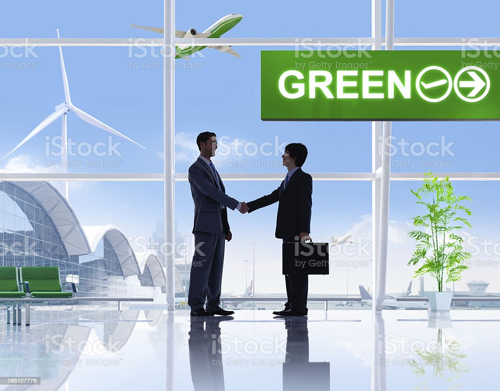 Green Business Travel. stock photo