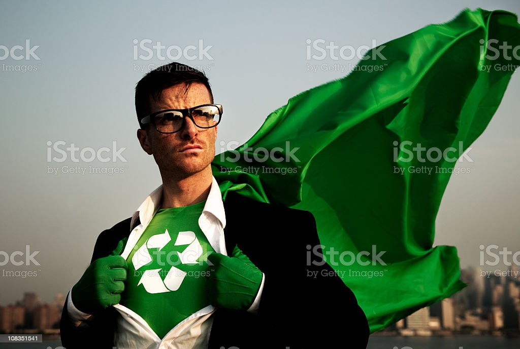 Green Businessman stock photo