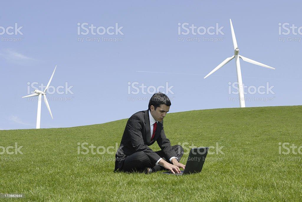 green businessman royalty-free stock photo