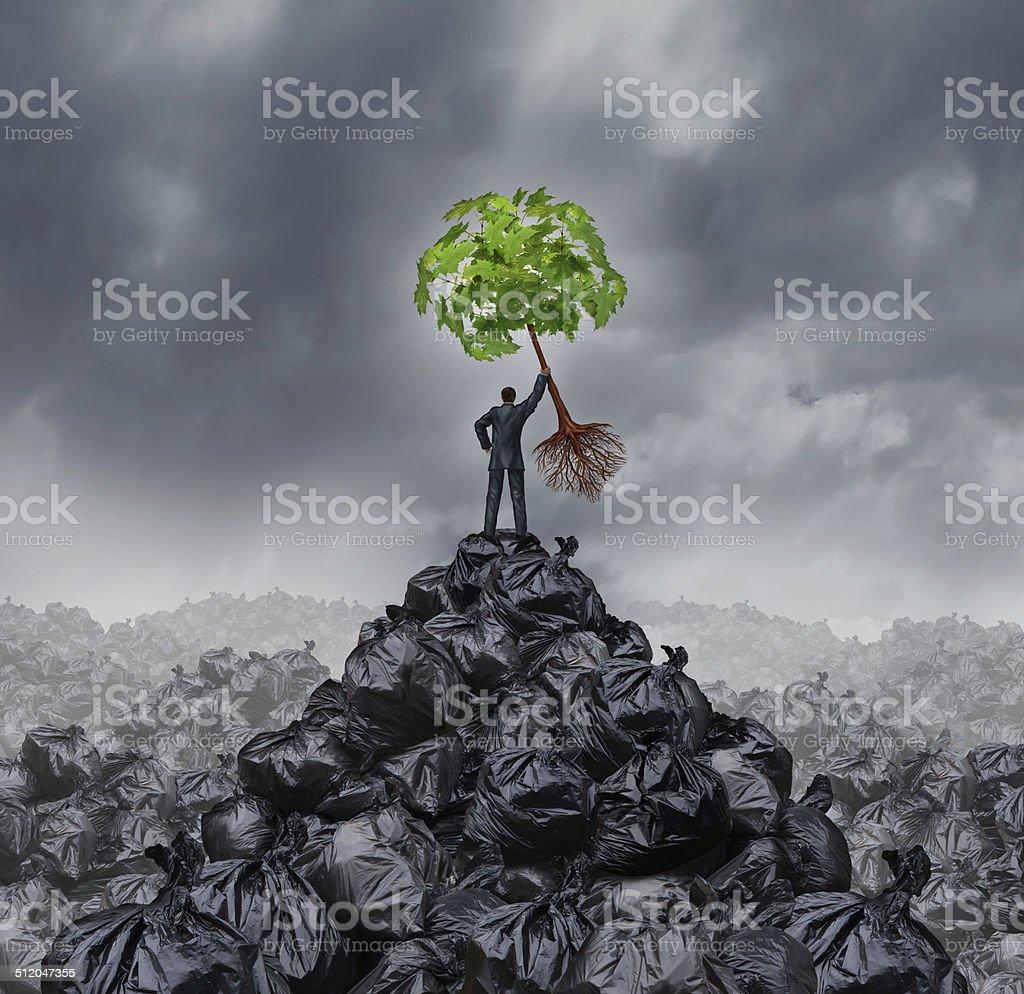 Green Businessman stock photo