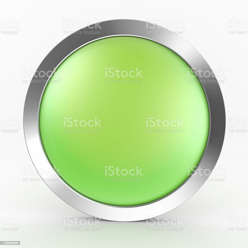 Green Button Icon stock photo