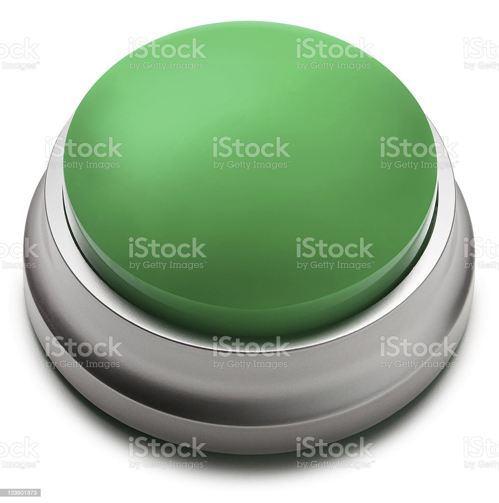 Green Button Isolated on White stock photo