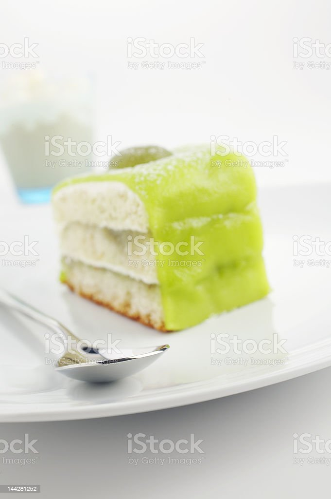 Green cake royalty-free stock photo