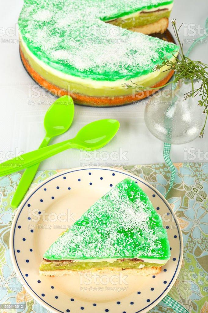 Green cake stock photo