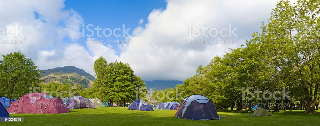 Green campground royalty-free stock photo