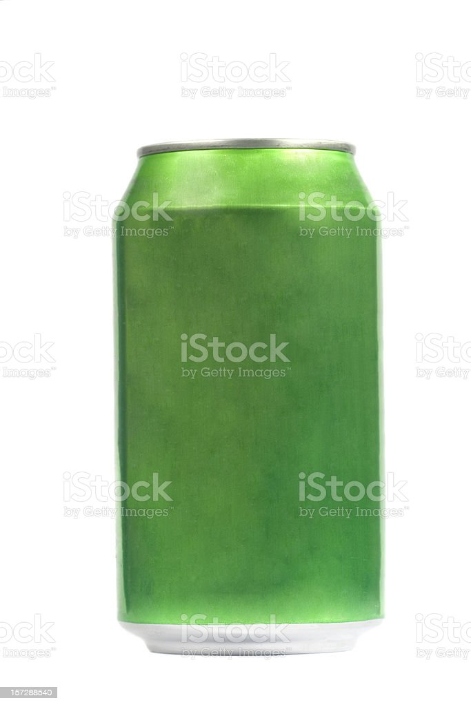 Green can stock photo