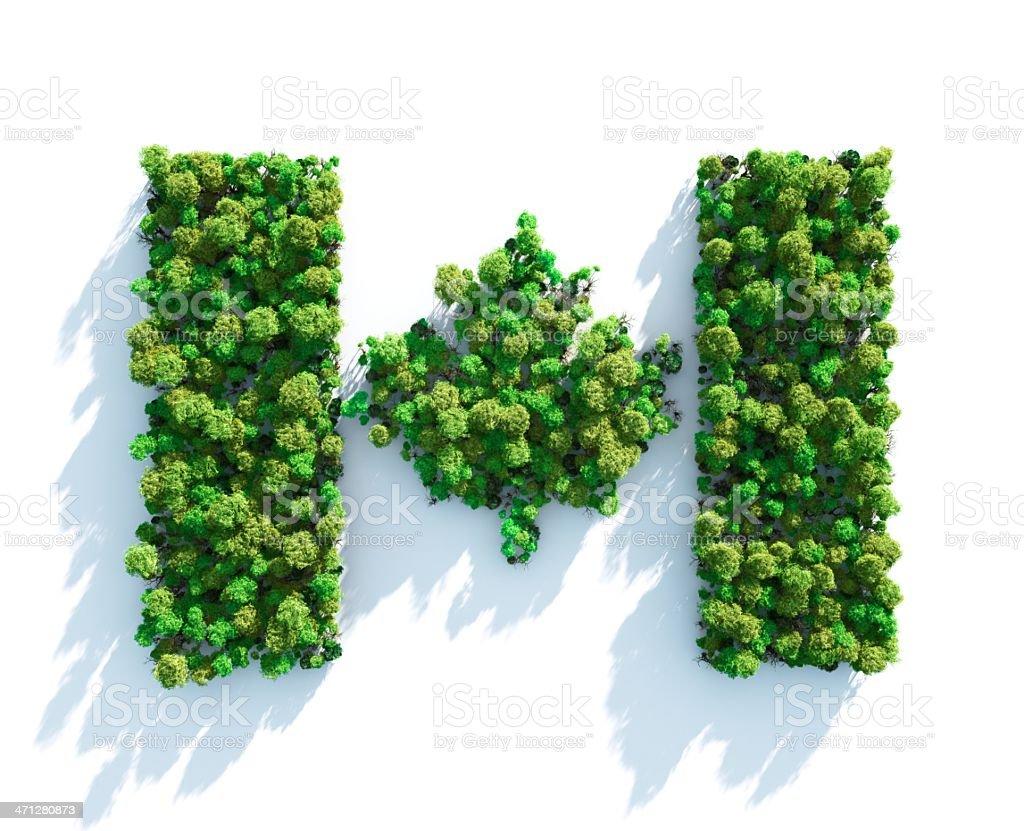 Green Canadian royalty-free stock photo