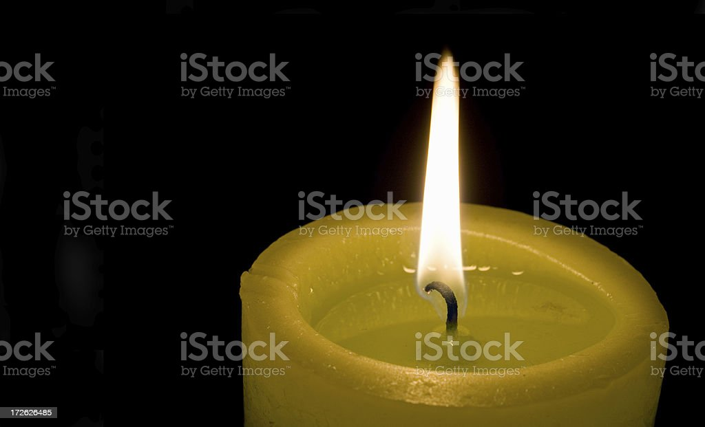 Green candle royalty-free stock photo