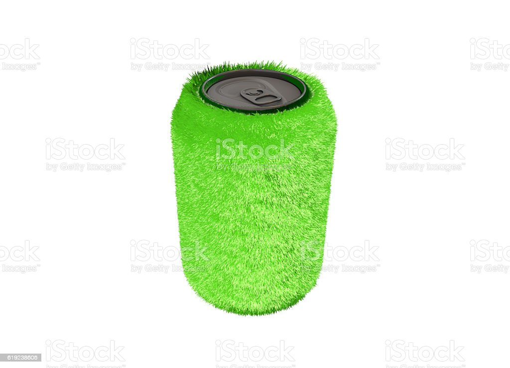 Green cans stock photo