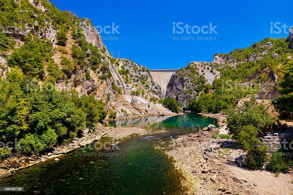 Green canyon at Turkey stock photo