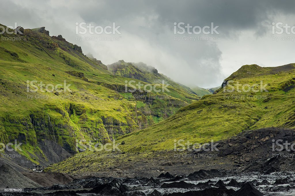 Green canyon stock photo