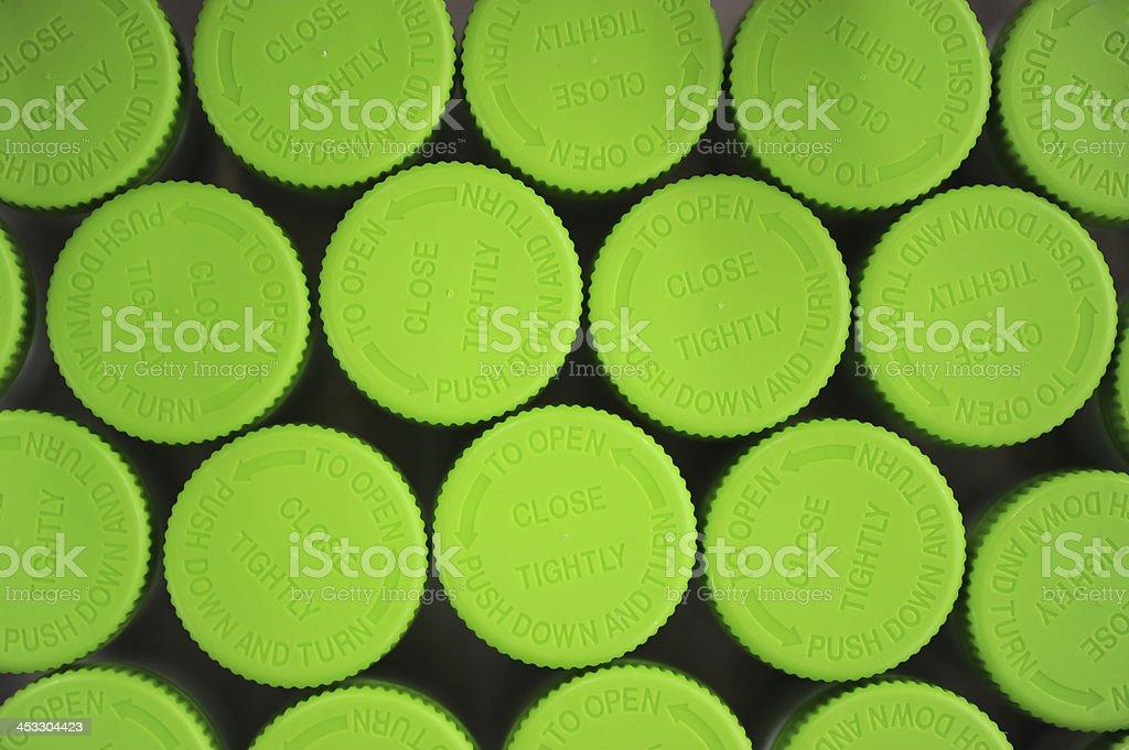 Green Caps stock photo