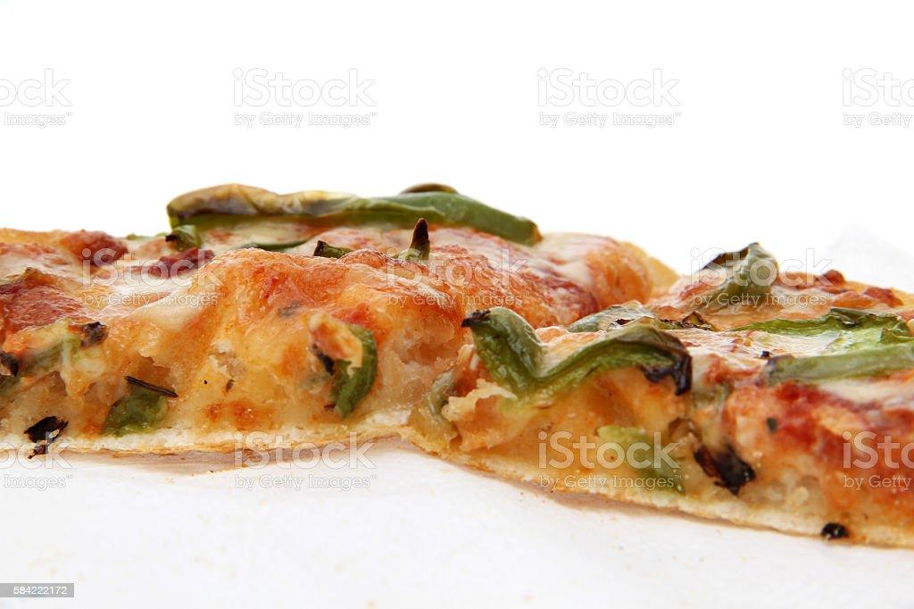 Green capsaicin pizza stock photo