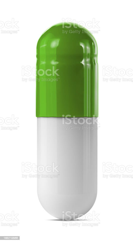Green Capsule royalty-free stock photo
