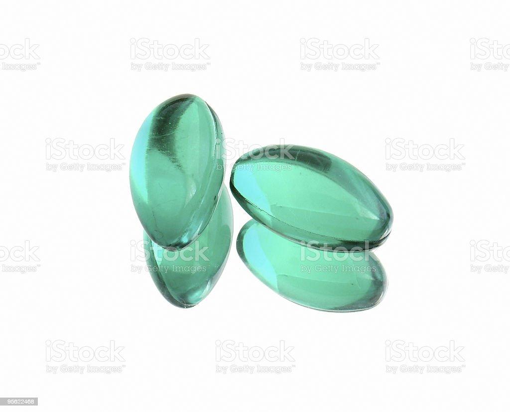 green capsules royalty-free stock photo