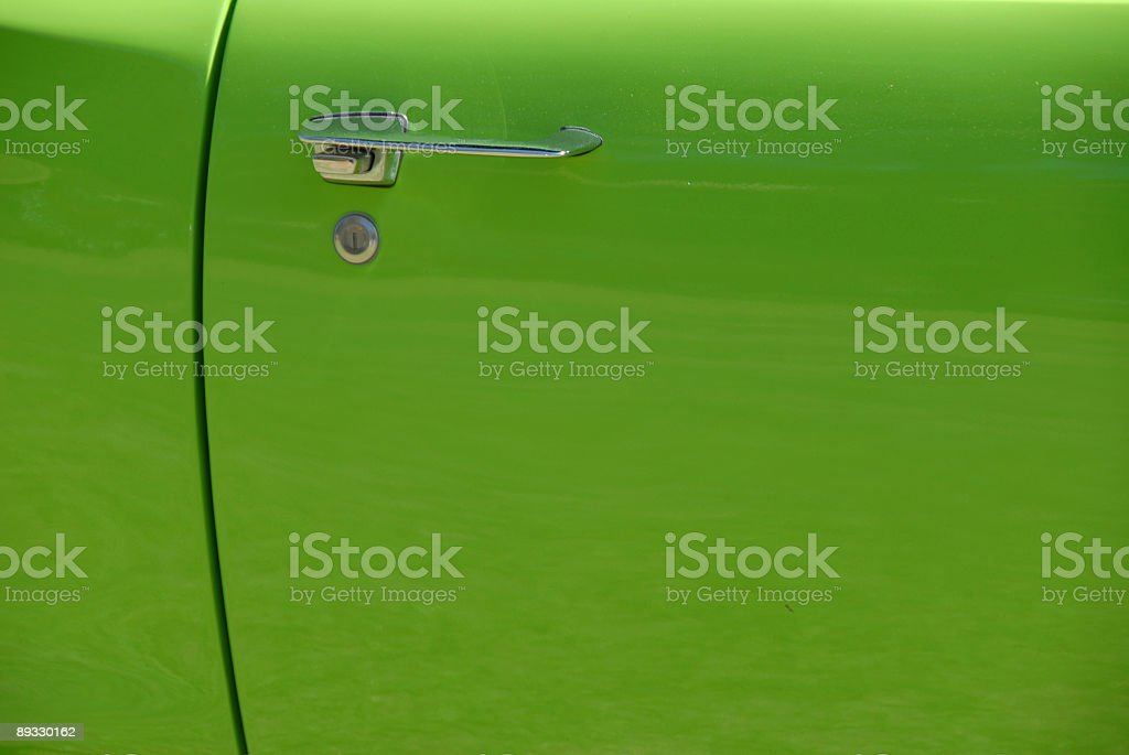 Green Car Door royalty-free stock photo