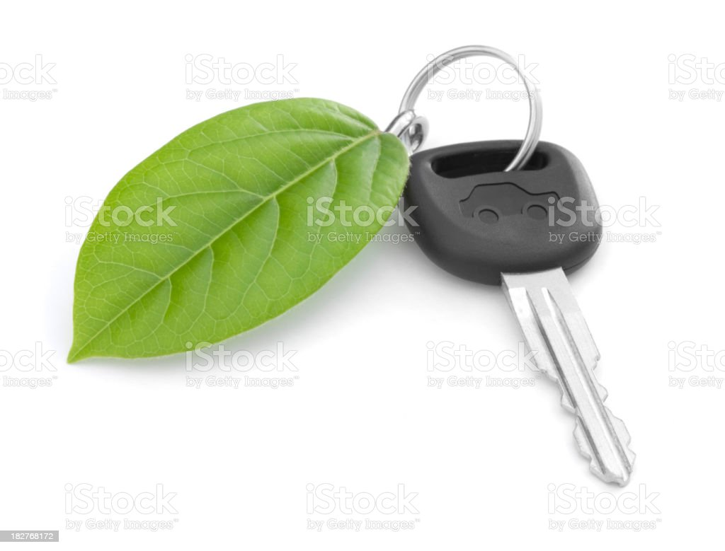 Green Car Key stock photo