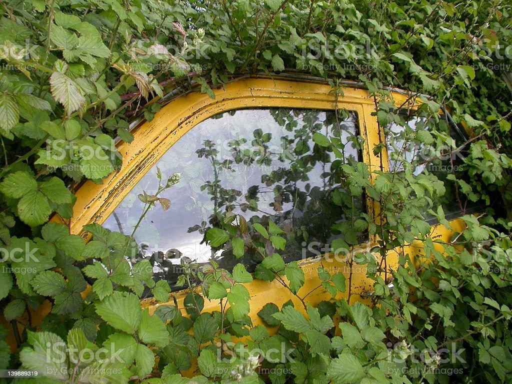 Green car royalty-free stock photo