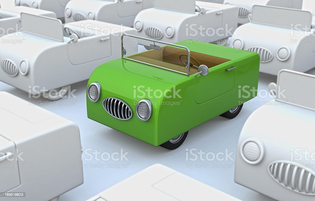 Green Car Toy stock photo
