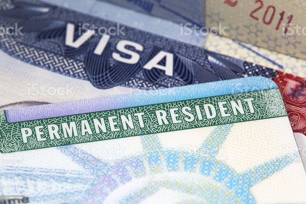 green card stock photo