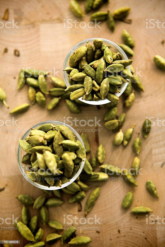 green cardamoms stock photo