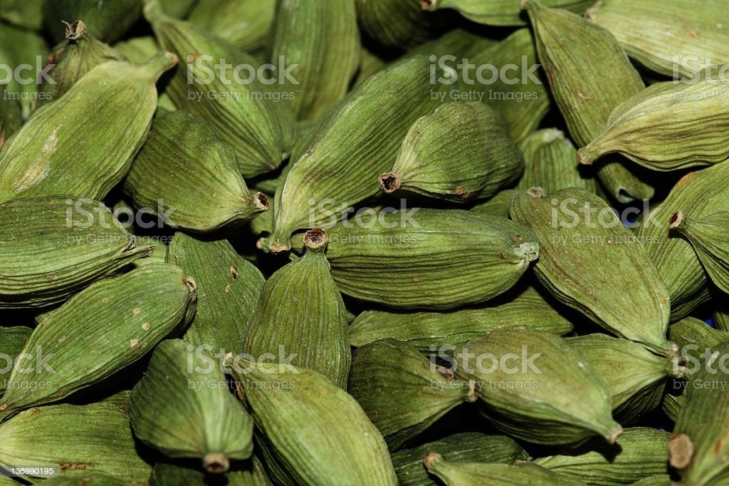 Green cardamon pods royalty-free stock photo