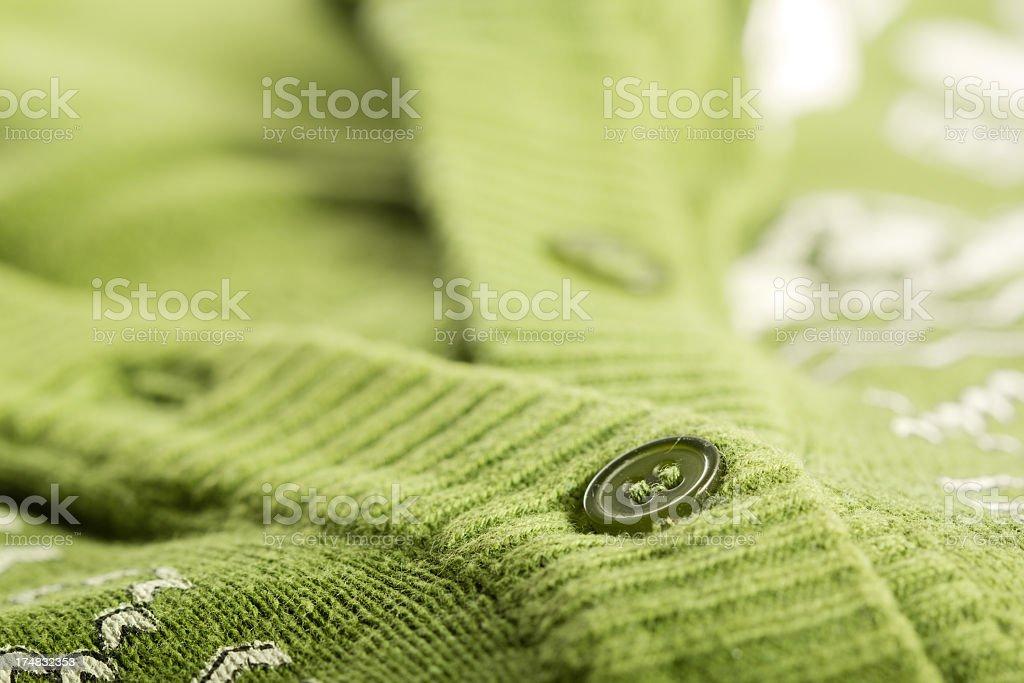 Green Cardigan royalty-free stock photo