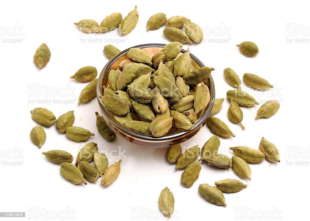 Green Cardmom seeds close up macro shots stock photo