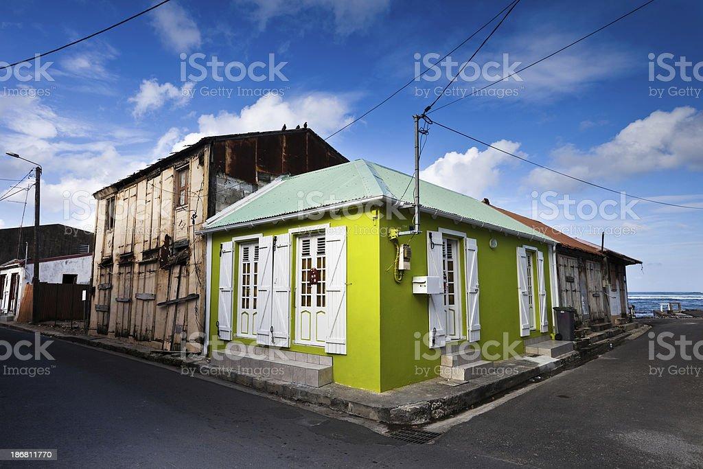 Green Caribbean House royalty-free stock photo