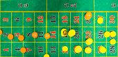 Green casino roulette table