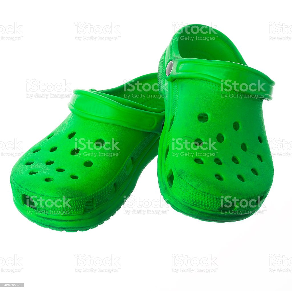 Green Casual Shoes isolated stock photo