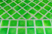 Green ceramic floor