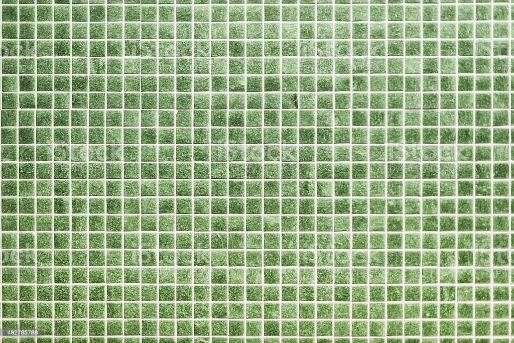 green ceramic tiles in a modern bathroom stock photo