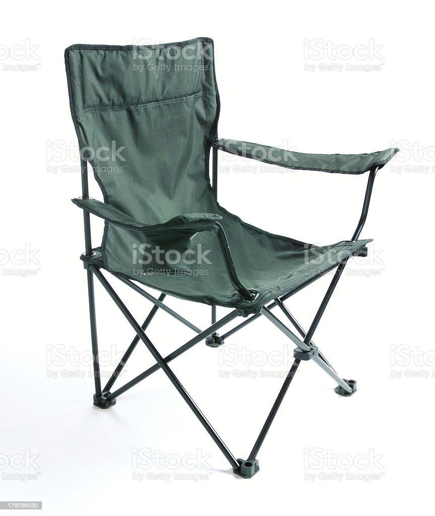 Green chair royalty-free stock photo