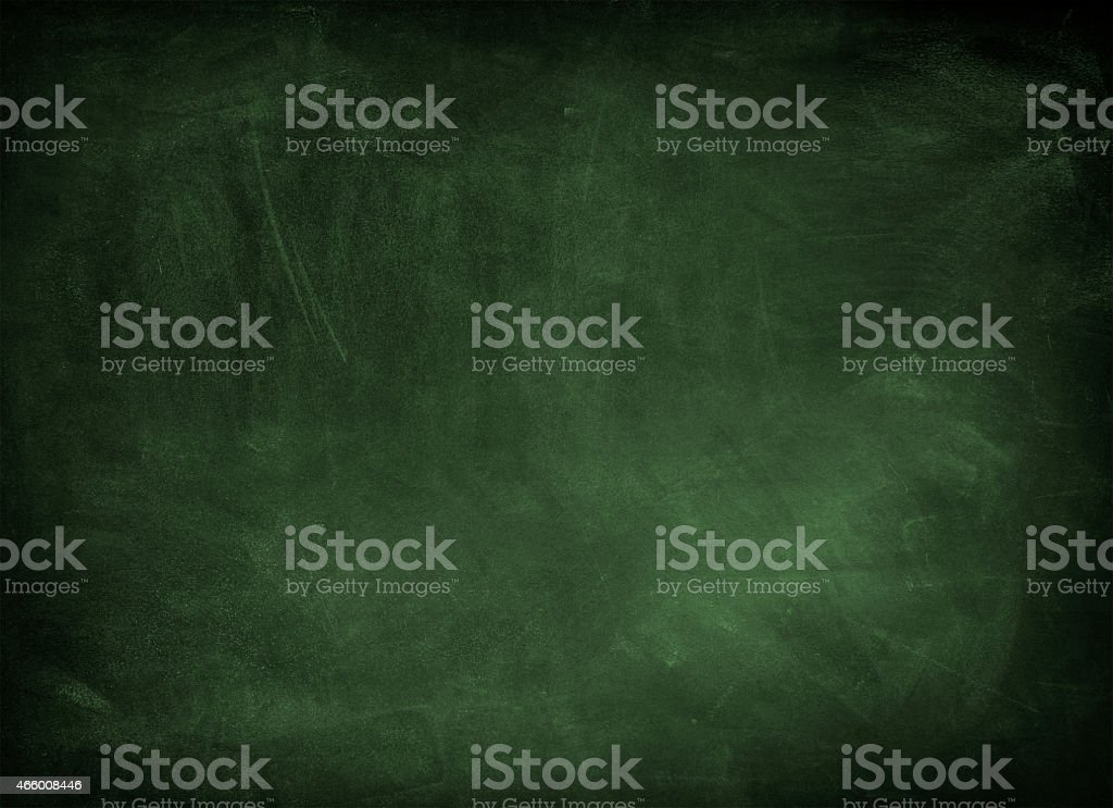 Green chalkboard that has just been erased stock photo